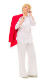 Senior woman with mobile phone Royalty Free Stock Image