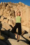 Senior Woman Nature Yoga Royalty Free Stock Image
