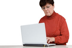 Senior woman with a notebook Royalty Free Stock Photos