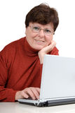 Senior woman with a notebook Royalty Free Stock Image
