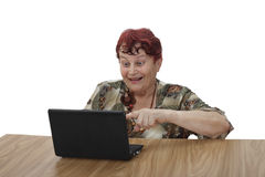 Senior woman with notebook Royalty Free Stock Photography