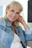 Senior woman at office Stock Photography