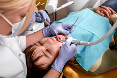 Free Senior Woman On The Dental Operation. Royalty Free Stock Photography - 47560937