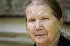 Senior woman outdoor portrait stock photos