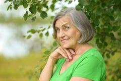 Senior woman outdoor Stock Photos