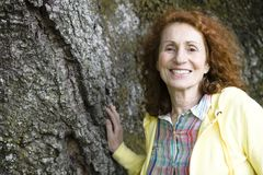 Senior Woman Outdoors Stock Images