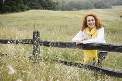 Senior Woman Outdoors Royalty Free Stock Photography