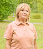 Senior woman outdoors Royalty Free Stock Image