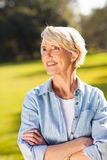 Senior woman outdoors Royalty Free Stock Image