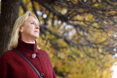Senior woman in park Royalty Free Stock Photography