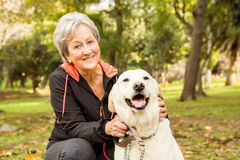Senior woman in the park Royalty Free Stock Image