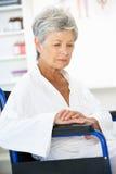 Senior woman patient Stock Image