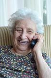 Senior woman on phone Stock Images