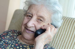 Senior woman on phone Royalty Free Stock Image