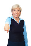 Senior  woman points to you Royalty Free Stock Images