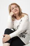 Senior woman portait royalty free stock photography