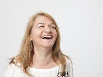 Senior woman portait Stock Photos