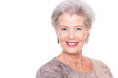 Senior woman portrait Stock Photography