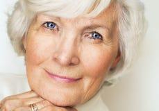 Senior woman portrait Stock Photos