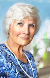 Senior woman portrait Royalty Free Stock Photo