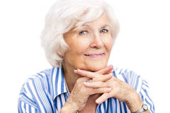 Senior woman portrait Stock Photography