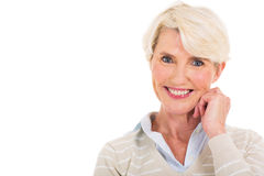 Senior woman portrait Royalty Free Stock Photography