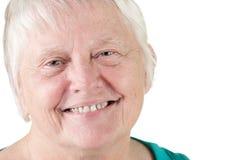 Senior woman portrait smiling Stock Images