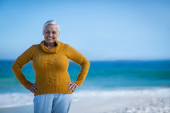 Senior woman posing with hands on hips Royalty Free Stock Photo