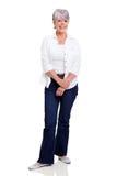 Senior woman posing Stock Photo