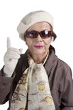 Senior woman posing to cam Royalty Free Stock Photography
