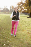 Senior Woman Power Walking stock images