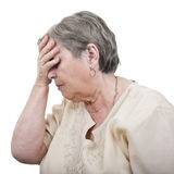 Senior woman depression Stock Image