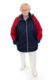 Senior woman in rainjacket Royalty Free Stock Photos