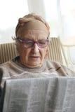 Senior woman reading Stock Photos