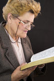 Senior woman reading holly bible Stock Photography