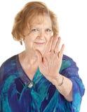 Senior Woman Refusing Royalty Free Stock Photos