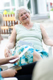 Senior woman relaxing Royalty Free Stock Photography