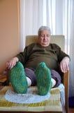 Senior woman resting Stock Images