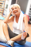Senior Woman Resting After Exercise Royalty Free Stock Photos