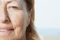 Senior woman's face Stock Photo