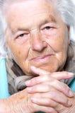 Senior woman's portrait Stock Image