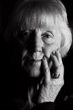 Senior woman sad Royalty Free Stock Images