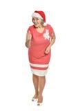 Senior woman in Santa hat Royalty Free Stock Photos