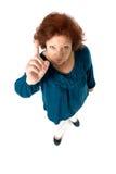 Senior woman scold Stock Photo