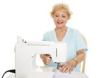 Senior Woman Sewing Royalty Free Stock Photo