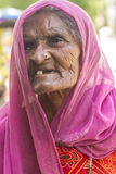 Senior Woman. Sheoganj, India - April 29, 2014: Rural village women love to posing, this woman known for Jogi community, Jogi is a bigest community in Rajasthan Royalty Free Stock Photography
