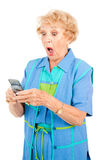 Senior Woman - Shocking Text Stock Image