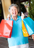 Senior Woman Shopper Stock Photography
