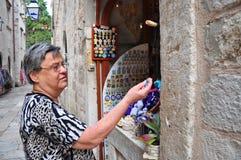 Senior woman shopping Stock Image