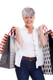 Senior woman shopping Stock Photos